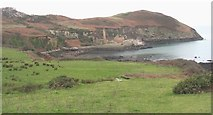 SH4094 : Fields on the cliff top south of Porth Wen bay by Eric Jones