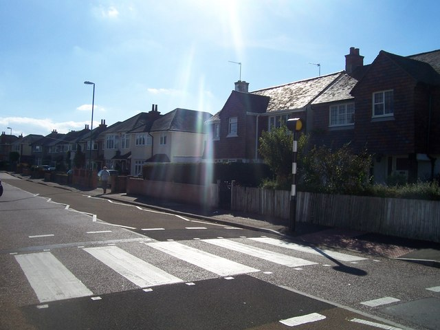 Bournemouth : Zebra Crossing on Victoria Avenue