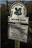 SO8843 : National Trust sign by Philip Halling
