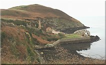 SH4094 : Porth Wen Brick Works on a calm day by Eric Jones
