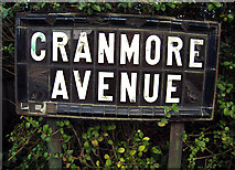 J3271 : Street sign, Cranmore Avenue by Rossographer