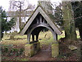 TM2059 : Lych Gate of St.Marys Church, Framsden by Adrian Cable