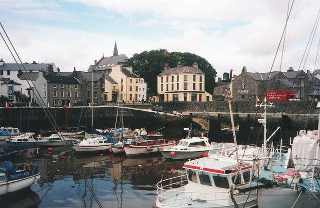 Pleasure craft in Castletown harbour