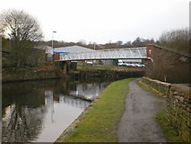 SD8432 : Footbridge over the Leeds and Liverpool Canal by Alexander P Kapp