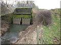SK8060 : Sluice bridge over Slough Dyke by Tim Heaton