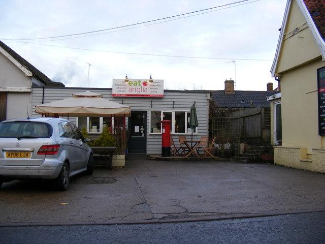 Earl Soham Post Office & The Street Post Office George V Postbox