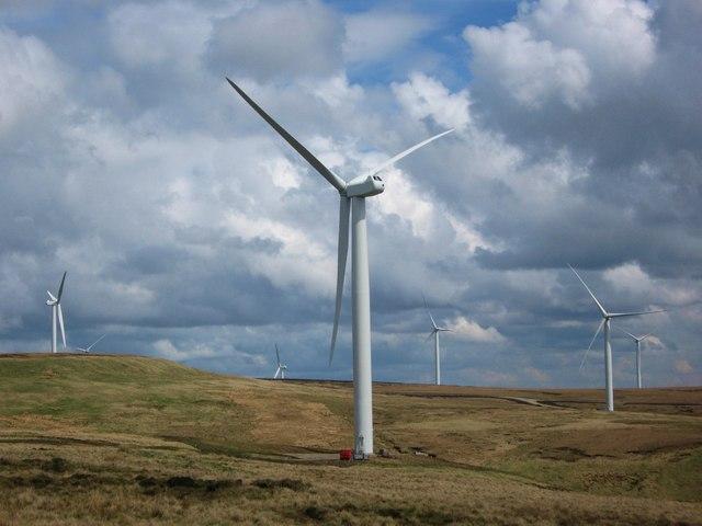 Scout Moor Wind Farm Turbine Tower No 14