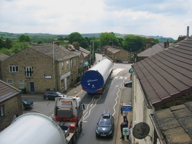 The Final Turbine Tower Delivery to Scout Moor