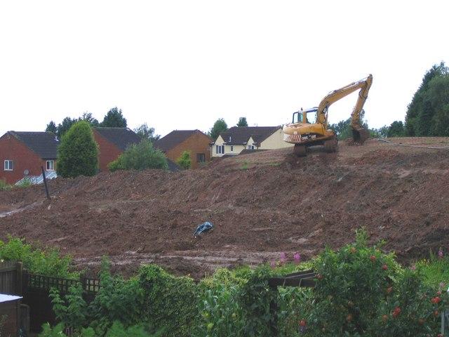 Marlbrook Landfill Site - Remediation in progress.