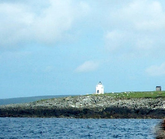 The lighthouse on the island of Balta