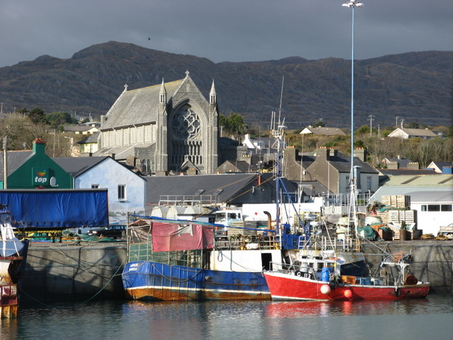 Harbour and church in Castletown Bearhaven