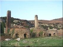 SH4094 : The three surviving kilns of Porth Wen brick works by Eric Jones