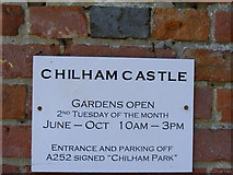 TR0653 : Chilham Castle Sign on gate by PAUL FARMER