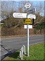 SY9495 : Lytchett Matravers: finger-post at Blaney's Corner by Chris Downer