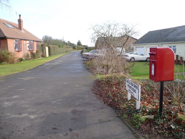 Lytchett Matravers: postbox № BH16 66, Wareham Road