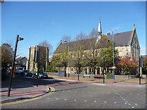 SU1585 : Swindon : Cricklade Road & St. Barnabas Church by Lewis Clarke