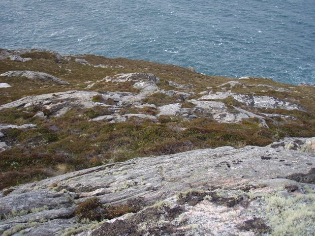 Slopes above the cliff line by Kirtomy Point