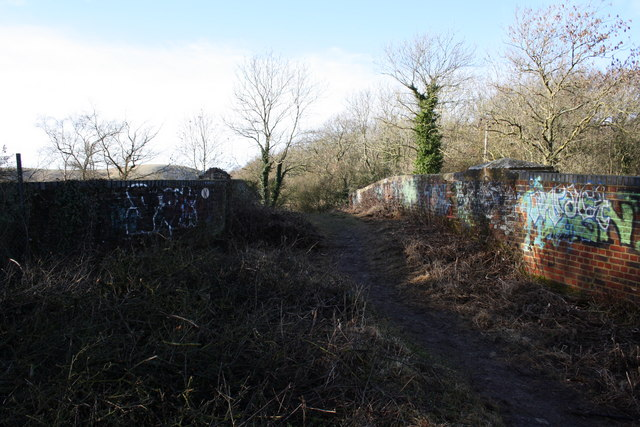 Footpath over bridge