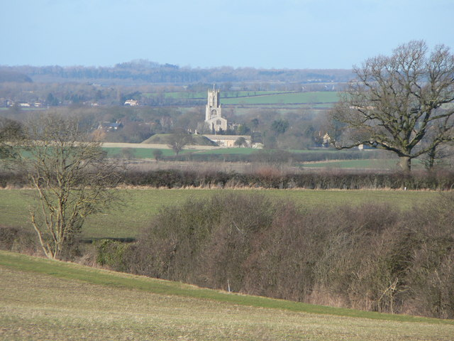Fotheringhay church and castle mound