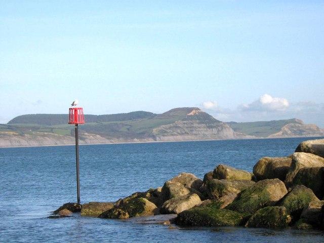 Lyme Regis Looking Towards Golden Cap