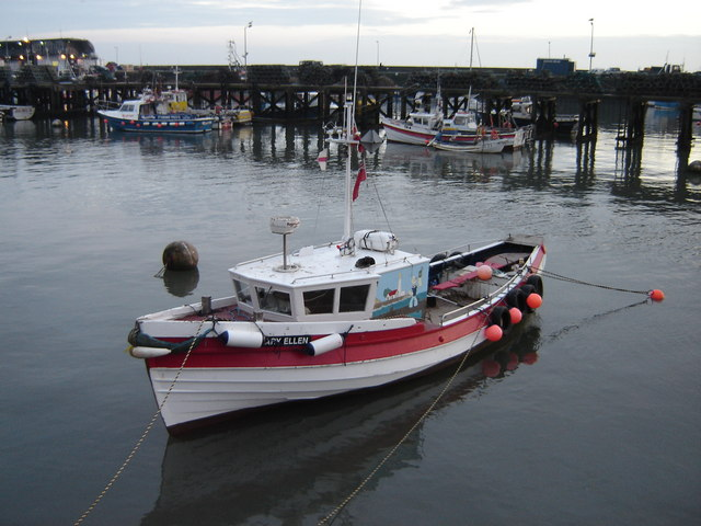 Fishing  Coble  in  Bridlington  Harbour