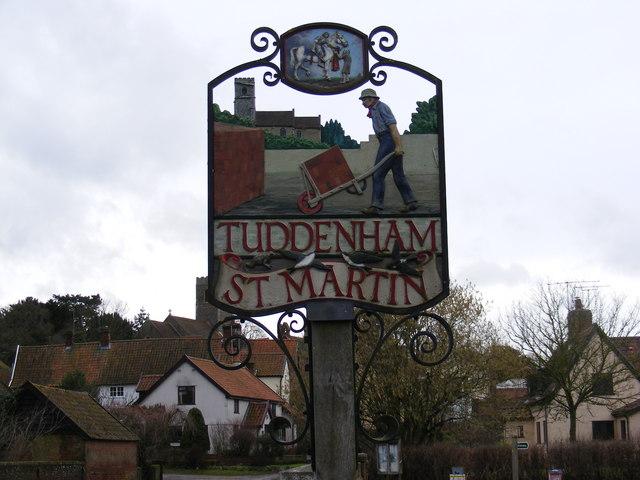 Tuddenham St..Martin Village Sign
