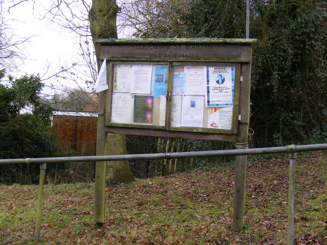 Tuddenham Village Hall Notice Board