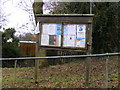 TM1848 : Tuddenham Village Hall Notice Board by Adrian Cable