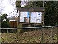 TM1848 : Tuddenham Village Hall Notice Board by Geographer