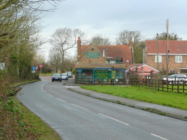 View to the Fox and Goose Inn