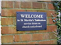 "TM1948 : ""Welcome"" to St.Martin's Church, Tuddenham St.Martin by Adrian Cable"