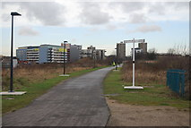 TQ3783 : Cycleway running by the 2012 Olympic Site by N Chadwick