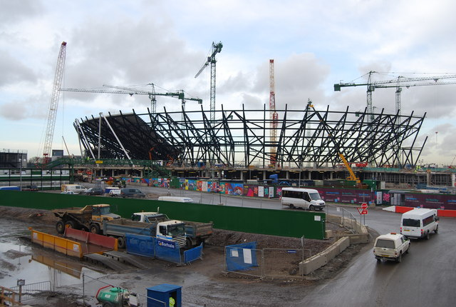 2012 Olympic Stadium, January 2009