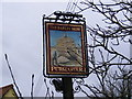 TM1850 : The Barley Mow Public House Sign, Witnesham by Adrian Cable