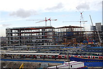 TQ3884 : A new shopping Centre being built by Stratford Station by N Chadwick