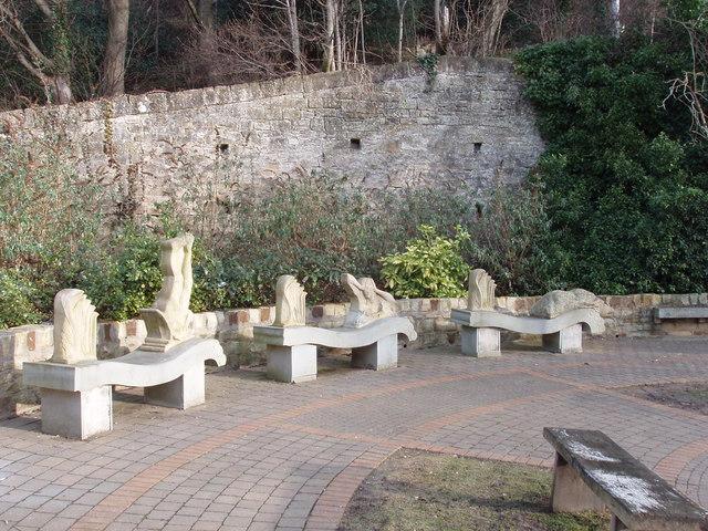 Stone carved seats, Barnard Castle
