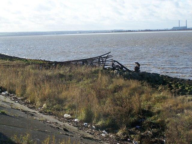 Fallen Beacon near Sea Wall