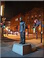 NZ2463 : Standing man sculpture by Freethinker