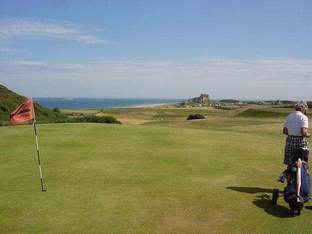 16th green, Bamburgh Golf Course