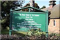 TQ4991 : Church of the Ascension, Collier Row Road, Collier Row - Notice board by John Salmon