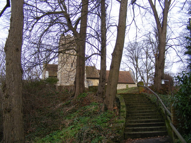 Steps leading to  St.Mary's Church, Playford