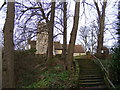 TM2148 : Steps leading to  St.Mary's Church, Playford by Adrian Cable