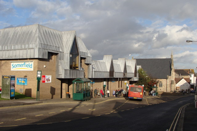 Chepstow Bus Station and Somerfield Supermarket