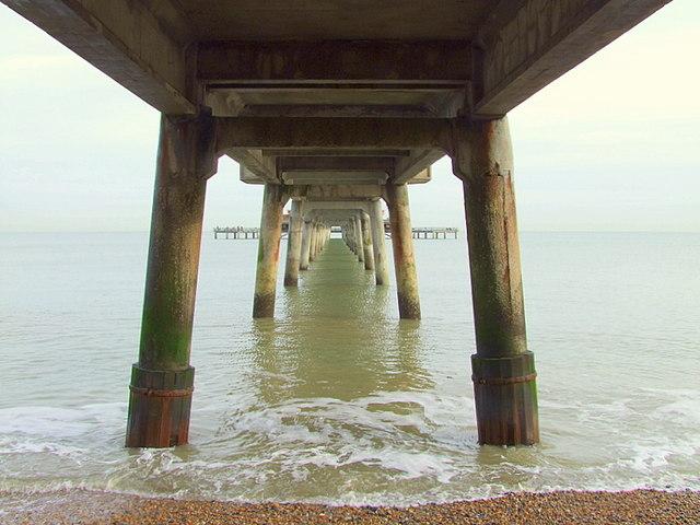 Deal pier; the underside