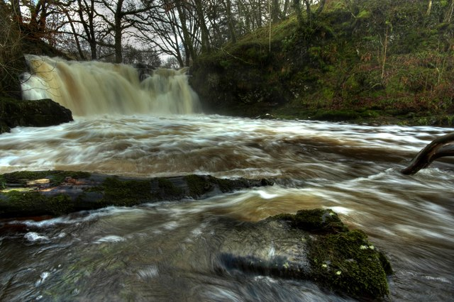 Holy Linn Waterfall, During Flood Conditions