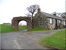NY0265 : Caerlaverock Castle - the road leading out through an old gateway by Elliott Simpson