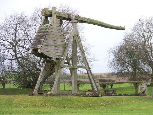 Caerlaverock Castle - replica trebuchet