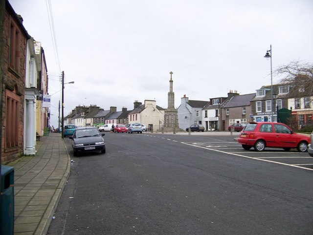 Wigtown Market Square and Market Cross