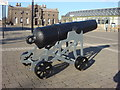 TQ4379 : Cannon, Woolwich Arsenal Laboratory Square by Oxyman