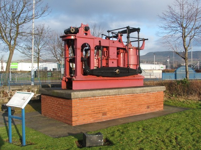 The steam engine from the PS Leven